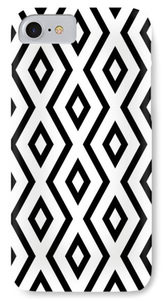 White And Black Pattern IPhone Case by Christina Rollo