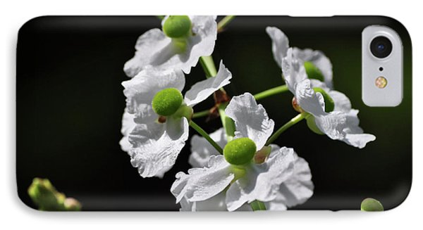 White And Green Wildflowers IPhone Case