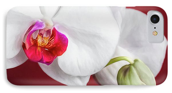 Orchid iPhone 7 Case - White And Red Orchids by Tom Mc Nemar
