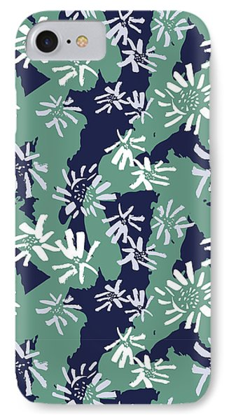 White And Violet Sunflowers IPhone Case by Gala Sofie Kuhn