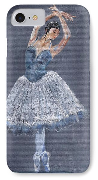 IPhone Case featuring the painting White Ballerina by Jamie Frier