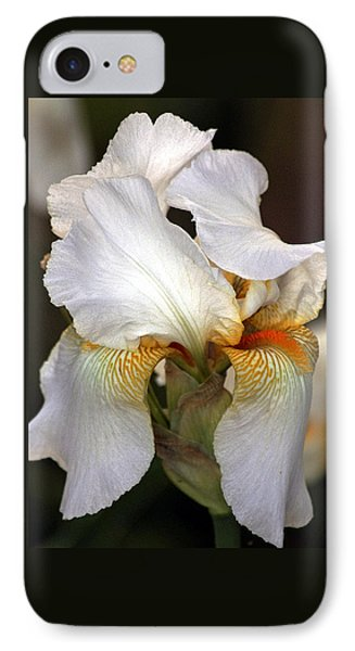IPhone Case featuring the photograph White Bearded Iris by Sheila Brown