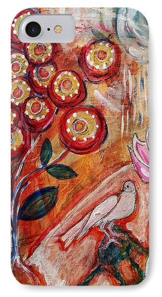 IPhone Case featuring the mixed media White Bird by Mimulux patricia no No