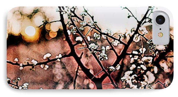 White Blossom Branches IPhone Case by Carol Crisafi