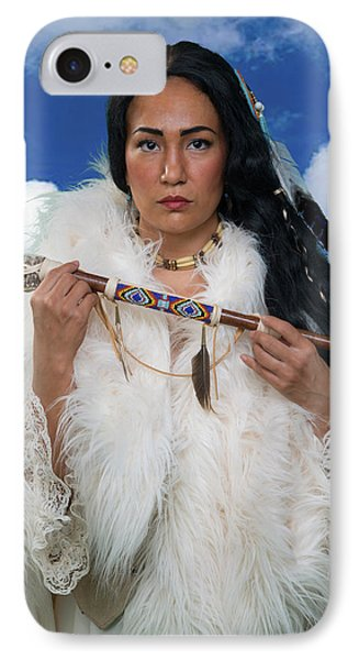 White Buffalo Calf Woman IPhone Case by David Clanton