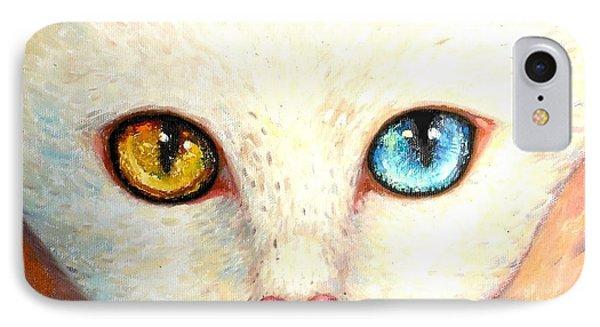White Cat Phone Case by Shijun Munns