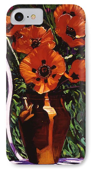 White Chair, Red Poppies IPhone Case by David Lloyd Glover