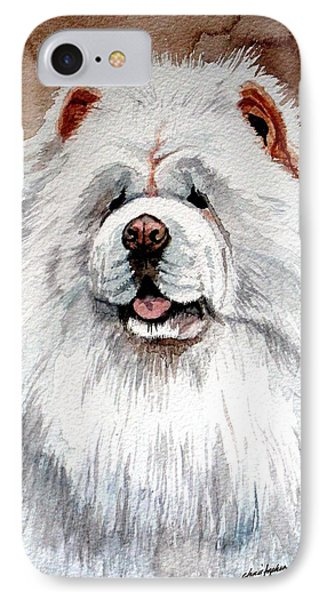 White Chow Chow Phone Case by Christopher Shellhammer