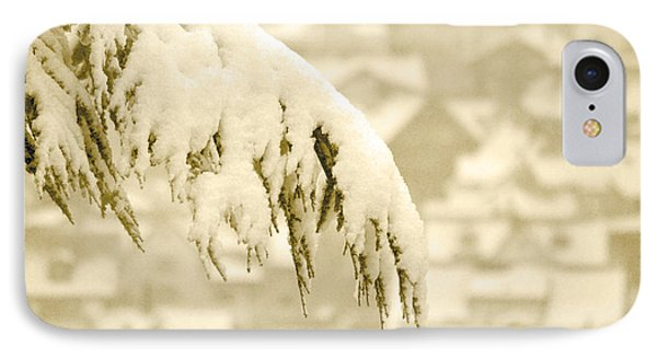 IPhone Case featuring the photograph White Christmas - Winter In Switzerland by Susanne Van Hulst