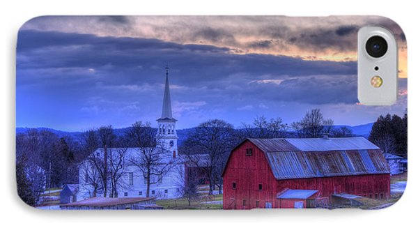 White Church And Red Barn - Peacham Vermont IPhone Case