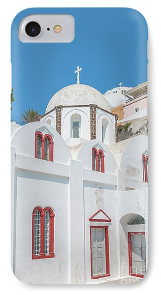 IPhone Case featuring the photograph White Church At Fira by Antony McAulay