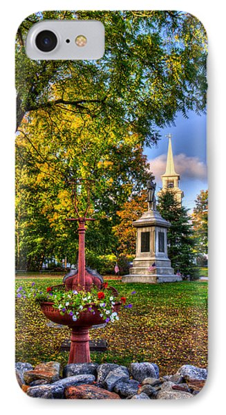 White Church In Autumn - Hopkinton Nh IPhone Case