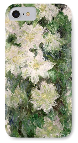 White Clematis IPhone 7 Case by Claude Monet
