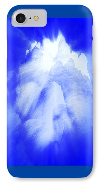 IPhone Case featuring the photograph White Cloud In Blue by Kellice Swaggerty