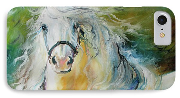 White Cloud The Andalusian Stallion IPhone Case