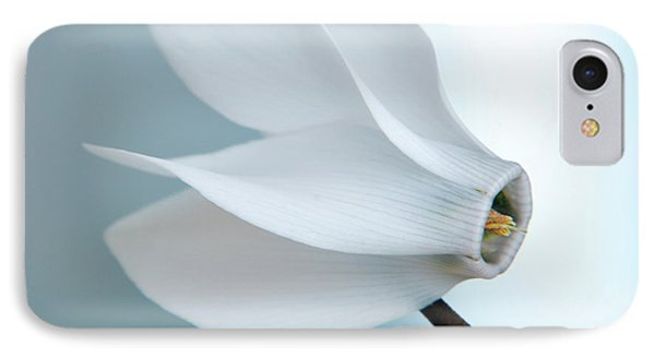 IPhone Case featuring the photograph White Cyclamen. by Terence Davis