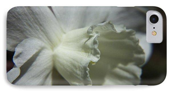 White Daffodil Phone Case by Teresa Mucha