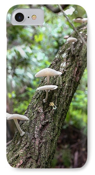 White Deer Mushrooms IPhone Case by Christopher L Thomley