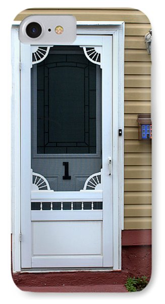 White Door IPhone Case by Douglas Pike