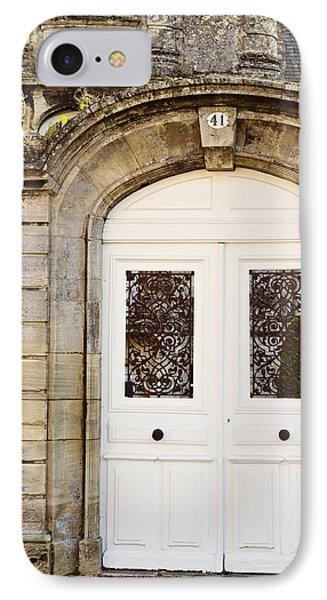 White Door IPhone Case