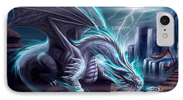 White Dragon Phone Case by Anthony Christou