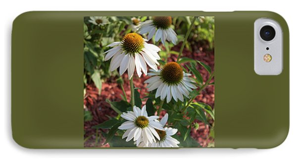 IPhone Case featuring the photograph White Echinacea by Suzanne Gaff