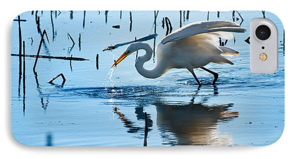 White Egret At Horicon Marsh Wisconsin Phone Case by Steve Gadomski