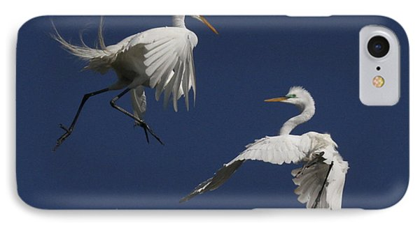 White Egret Ballet IPhone Case by Myrna Bradshaw