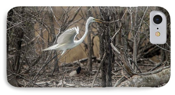 IPhone Case featuring the photograph White Egret by David Bearden
