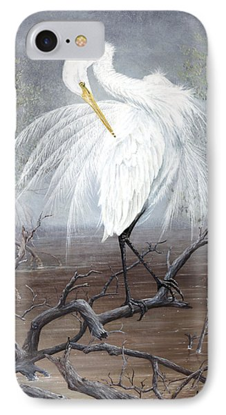 White Egret Phone Case by Kevin Brant