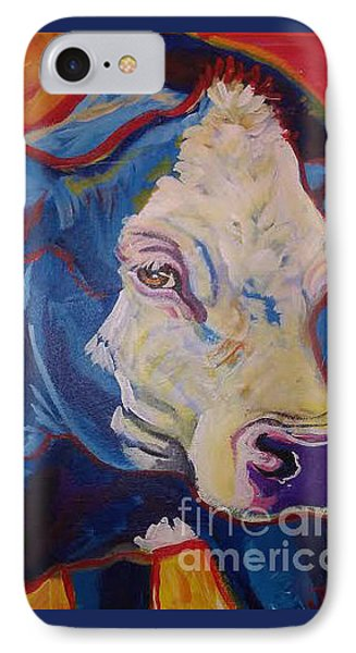 White Face Cow IPhone Case by Jenn Cunningham