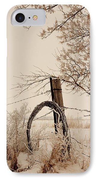 White Fence IPhone Case