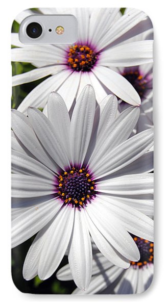 White Flower 1 IPhone Case by Isam Awad