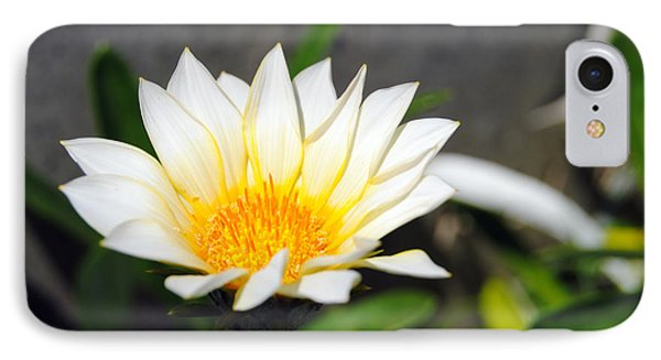 White Flower 3 IPhone Case by Isam Awad