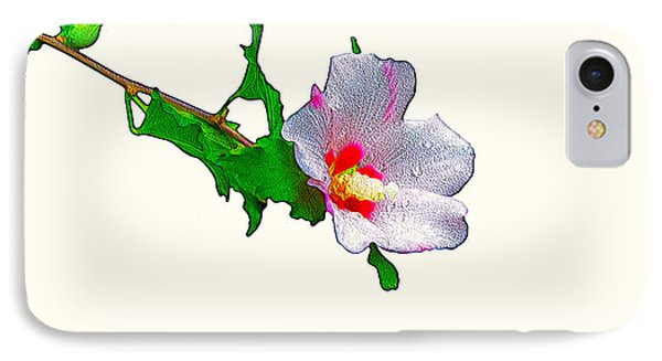White Flower And Leaves IPhone Case by Craig Walters