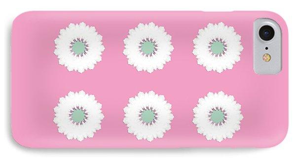 IPhone Case featuring the digital art White Flowers by Elizabeth Lock