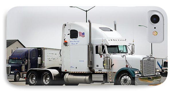 White Freightliner IPhone Case