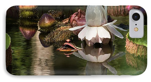 White Giant Water Lily IPhone Case