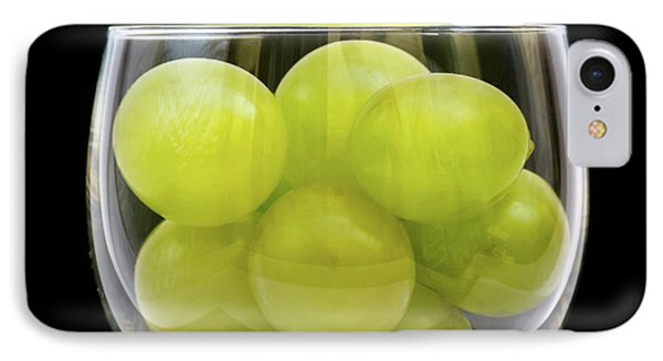 White Grapes In Glass IPhone Case by Wim Lanclus