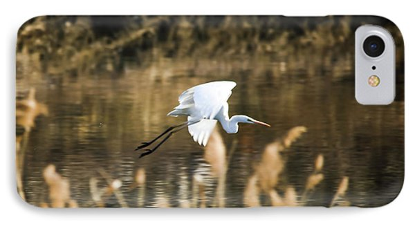 White Heron IPhone Case by Hyuntae Kim