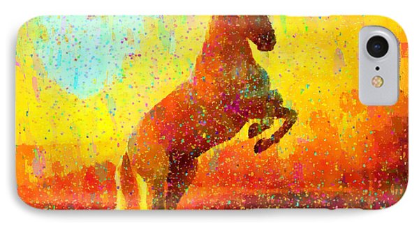 White Horse - Da IPhone Case by Leonardo Digenio