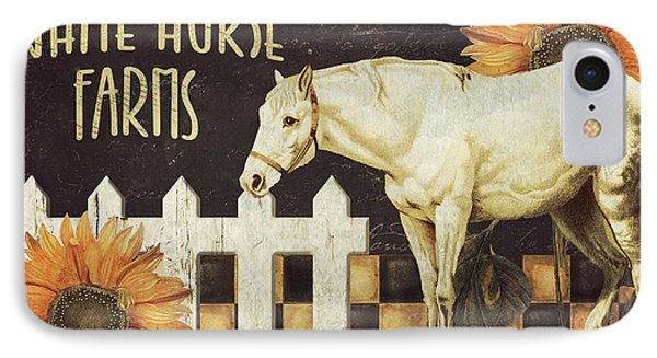 White Horse Farms Vermont IPhone Case by Mindy Sommers