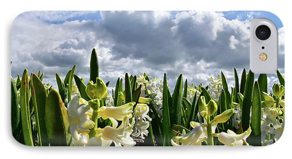 White Hyacinth Field IPhone Case by Mihaela Pater