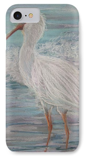 IPhone Case featuring the painting White Ibis At Dusk by Sandra Strohschein