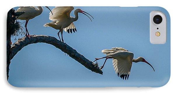 White Ibis Takeoff IPhone Case
