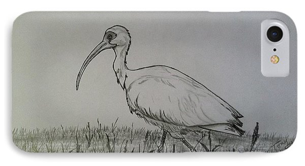 White Ibis IPhone Case by Tony Clark