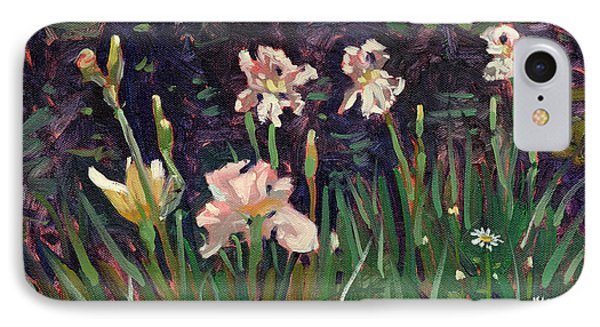 White Irises IPhone Case by Donald Maier