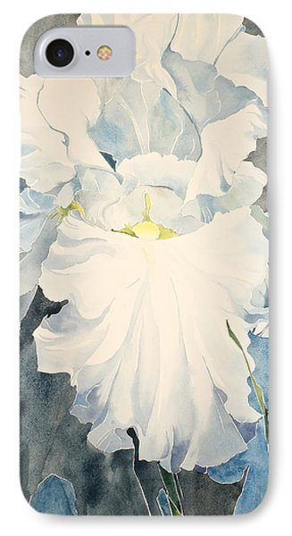 White Iris - For Van Gogh - Posthumously Presented Paintings Of Sachi Spohn   IPhone Case by Cliff Spohn