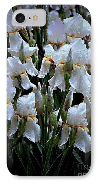 White Iris Garden IPhone Case by Sherry Hallemeier