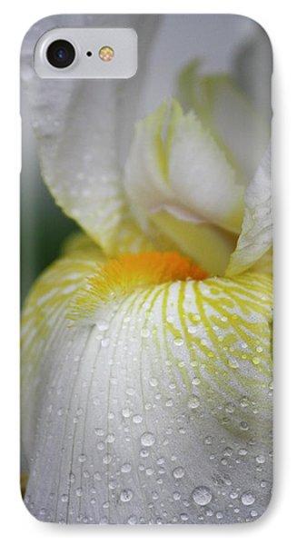 White Iris Study No 7 Phone Case by Teresa Mucha